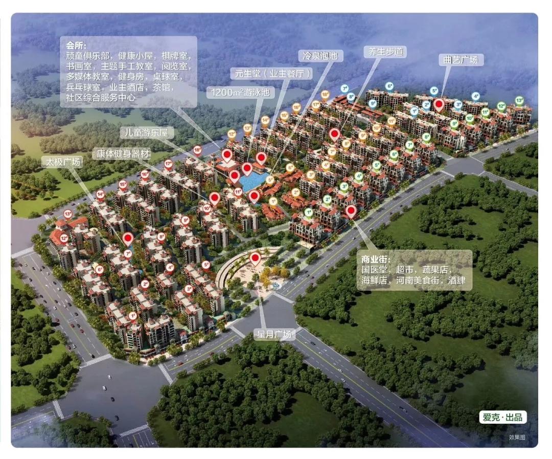 爱克养生谷全景图